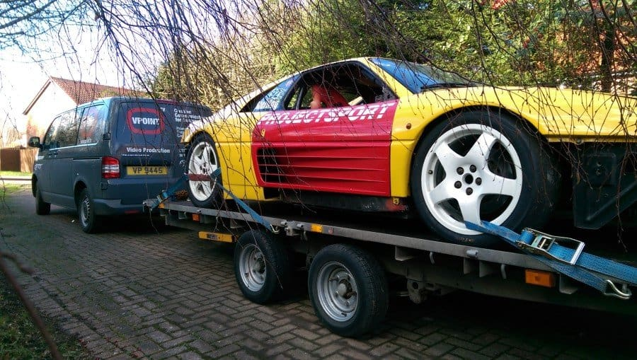 1993 Ferrari 348 Challenge on trailer