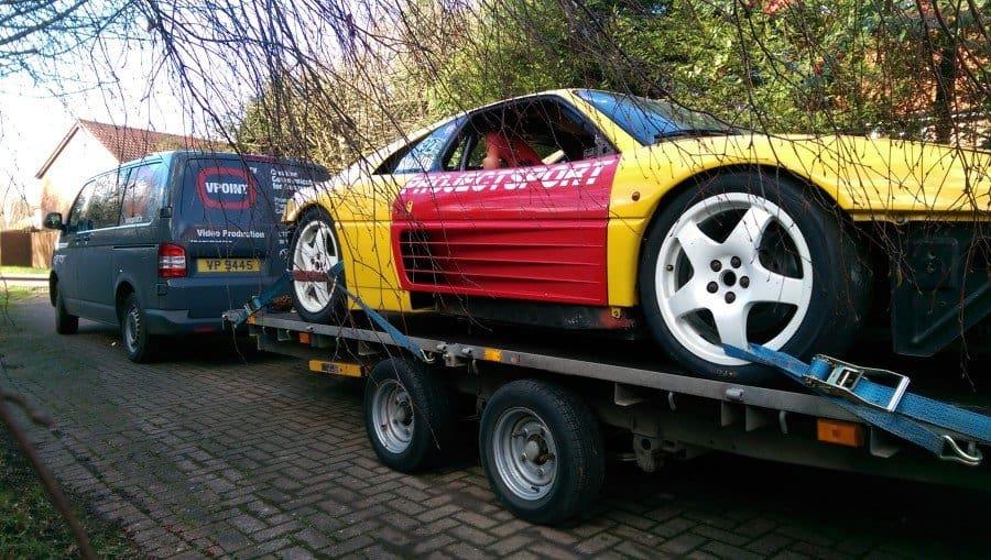1993 Ferrari 348 Challenge on trailer