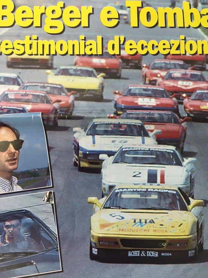 Ferrari 348 Challenge on book cover